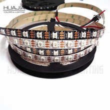 1M WS2812B 5V Addressble LED Strip Black&White PCB 30/60/144leds/m 2811 IC Buil-in 5050 IP30 Pixels Dream Color RGB Strips