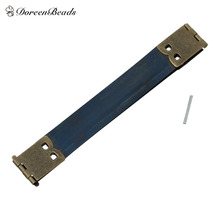 "DoreenBeads Internal Flex Purse Frame Rectangle Navy Antique Bronze 10cm x1.7cm(3 7/8"" x 5/8"")14mm x1.4mm(4/8"" x1.4mm),20 Sets(China)"