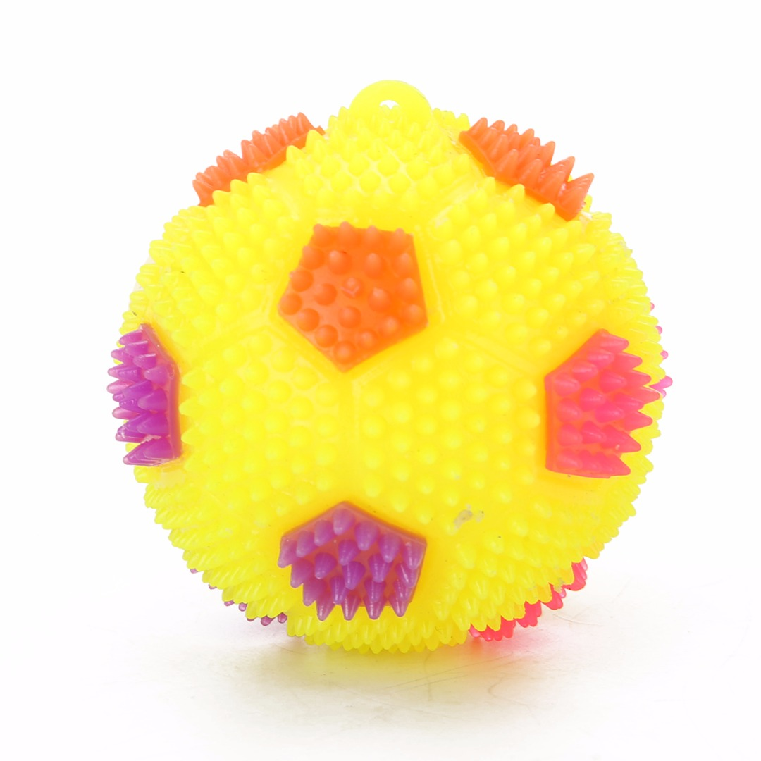 1pcs Newest Flashing Light Up LED Football Color Change High Bouncing Hedgehog Ball Baby Kids Boys Toy Children Fun Playing