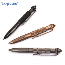 Topvico Aviation Aluminum Tactical Pen Glass Breaker Cooyoo EDC Self Defense Tool Self Guard Personal Defense Safety Security(China)