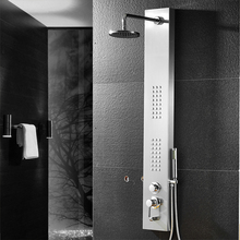Classic Wall Mounted 4-Function Massage Jets Set Round Mixer faucet tap Shower panel Shower Set