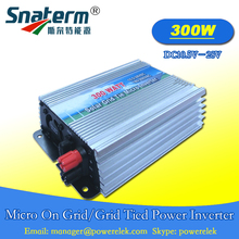 Promotion!!300W DC10.5-28V Solar Pure Sine Wave On Grid Tie Micro Inverter,Output 190-260V.50hz/60hz for Solar Energy home use