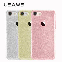 USAMS Crystal Rhinestone Case for iphone 6 plus case with high quality TPU ultrathin case for iPhone 6S case for iphone6(China)