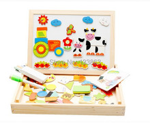 wholesale for 36pcs of Magnetic Wooden Toys( Farm version) For Kids/Child/Children Double-faced 3d Puzzle Baby Gift