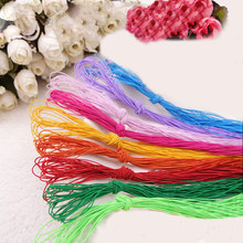 3PCS*10Meters Colored Elastic Webbing Band 0.5MM Width Strecth Polyester Cord For Sewing Garment Accessories(China)