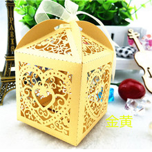 50Pcs Gift Box Laser Cut New Love Heart Laser Candy Boxes Wedding Decoration Favor Baby Shower Candy Box Birthday Festival Decor(China)