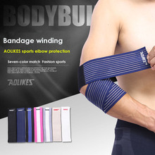 AOLIKES 1PCS High Elastic Bandage Wrap Basketball arm Compression Tape Elbow Support Tennis Volleyball Sports Equipment gear(China)