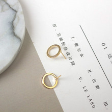 2017 new Korean jewelry fashion simple geometric small circle earrings j metal earrings a woman's gift wholesale