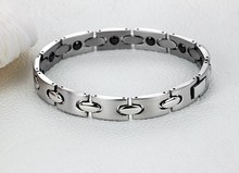 Silver Women's Health Bracelets Bangles For Female Magnetic 316L Stainless Steel Charm Ladies Bracelet Jewelry For Girl(China)