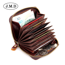 Made of cow Leather Unisex Card Holder Wallets High Quality Female Credit Card Holders men's coin Purse 8117