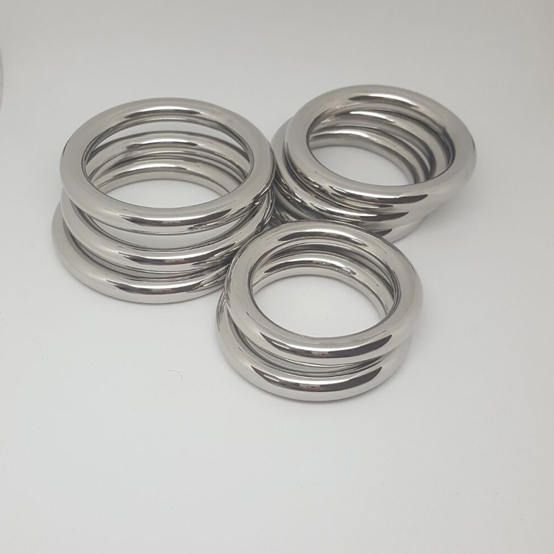 3 size Stainless steel Physical Delay ejaculation time dick penis ring Casing bound scrotum cock ring sex toy for men cockring
