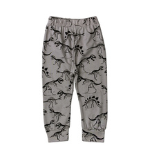 2016 Spring Autumn Kids Pants Cotton Baby Trousers Cartoon Dinosaur Unisex Children Clothing Kids Boys Pants Girls Clothes Grey(China)