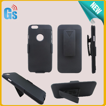 Black Belt Clip Holster Hard Case For iPhone 6 6S Hybrid Cover Free Shipping