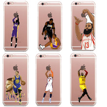 NBA star basketball player phone case for iphone SE 5s 6 6s 7 plus Jordan 23 james harden curry Soft TPU back cover coque fundas