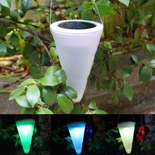 ICOCO Ice Cream Cone Solar Lamp LED Outdoor Garden Path Camping Solar Powerd Hanging Lights Decoration Pendant Lamp for Party