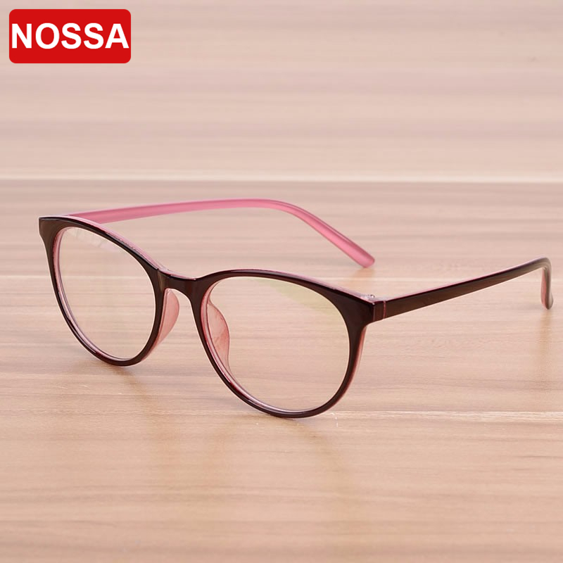 4b0c9ecfcb9 NOSSA Brand Oval Women Men s Prescription Eyewear Frame Female Elegant Optical  Glasses Frames Spectacle Frame Goggles