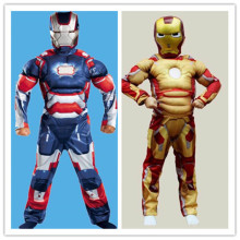 Halloween Easter Boys Cosplay Muscle Super Hero Iron Man Costume Cosplay for Kids  T60107