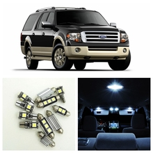15pcs White Car LED Light Bulbs Interior Package Kit For 2003-2015 Ford Expedition Map Dome License Plate Light Ford-B-23