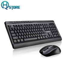 Wireless Business Keyboard Mouse Combo 2.4G USB Keyboard Mouse Set  Silent LED Backlit Keyboard for Office PC Computer Gaming