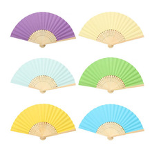 Retro Style Exquisite Japanese Paper Flower Folding Hand Fan Wedding Party Prom High End Crafts Women Bamboo Fans ZA3337
