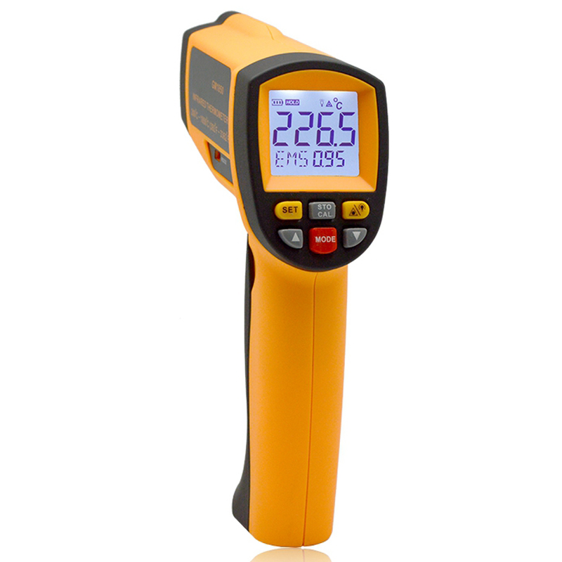 Handheld Non-contact LCD display infrared thermometer 200-1850 Celsius (392~3362 Fahrenheit) temperature measuring gun (6)