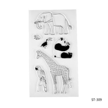 Animals in the Zoo Silicone Transparent Stamp Clear Stamps Set for DIY Scrapbooking Photo Album Decoration Supplies