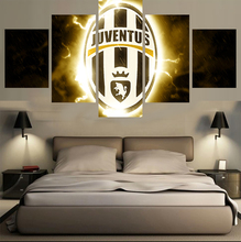 Modern On The Wall Art Modular Picture 5 Panel Football Sport Club For Living Room Home Decor Painting On Canvas Drop Shipping(China)