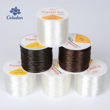 45-100M/Roll 0.5/0.6/0.8/1.0MM Stretchy Elastic Rope Cord Crystal String For Jewelry Making Beading Bracelet Wire Thread Rope(China)