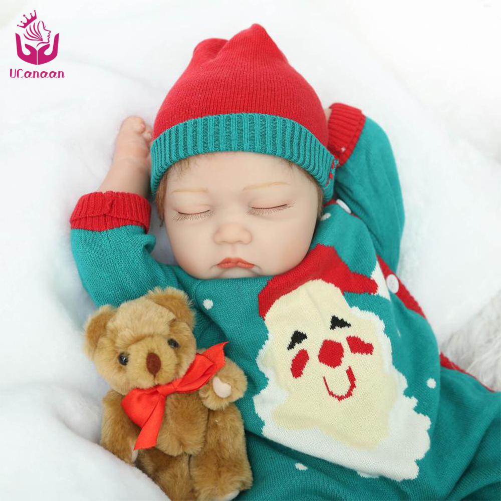 UCanaan New Design 11.11 Hot sales 50-55cm Sleeping Reborn Baby Doll Toys The Best Christmas Present or Gift For Children <br><br>Aliexpress