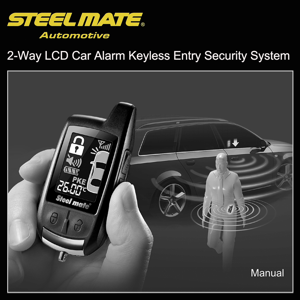 Steelmate 888E Two Way LCD Car Alarm Keyless Entry Security System(China)
