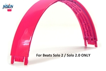 Replacement Top Headband Pad Cushions Repair Parts for Beats Solo2 Wired / Wireless On-Ear Headphone(Pink)