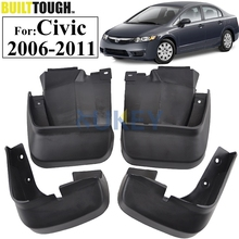 Set Molded Mud Flaps For Honda Civic 2006-2011 Mudflaps Splash Guards Front Rear Mud Flap Mudguards Fender 2007 2008 2009 2010