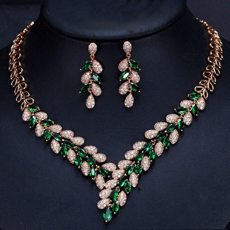 jewelry set golden set