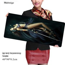 Mairuige Sexy Girl Printed Game Rubber Mouse Pad / Optical Mouse Pads Wholesale Gamer Speed Pads for Csgo DOTA2 Gamer(China)