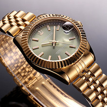 2017 Brand New TORBOLLO Fashion Watch Womens Stainless Steel Female Wrist Watch Green Waterproof Tag With box