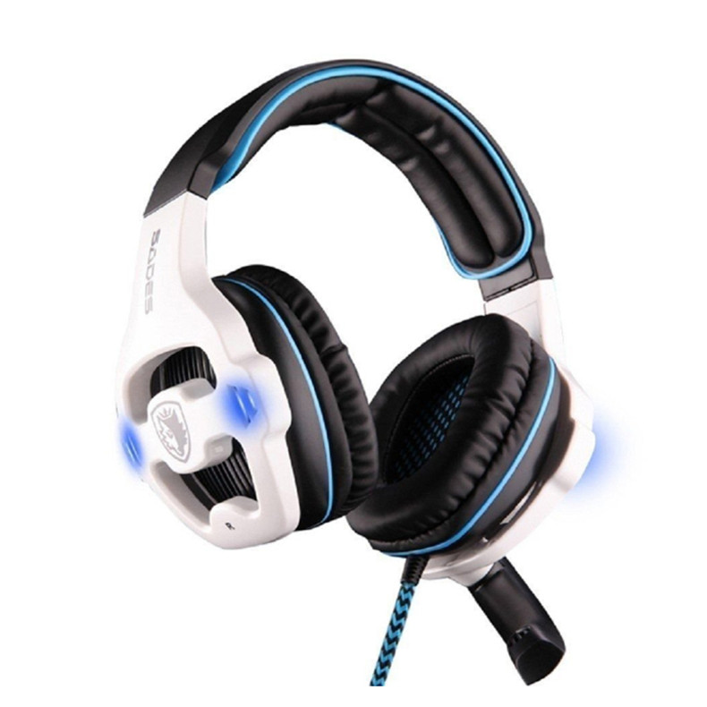 Sades SA-903 Gaming Headset Best casque 7.1 Surround Sound USB Wired Headphones with Microphone Volume Control for PC Gamer (9)