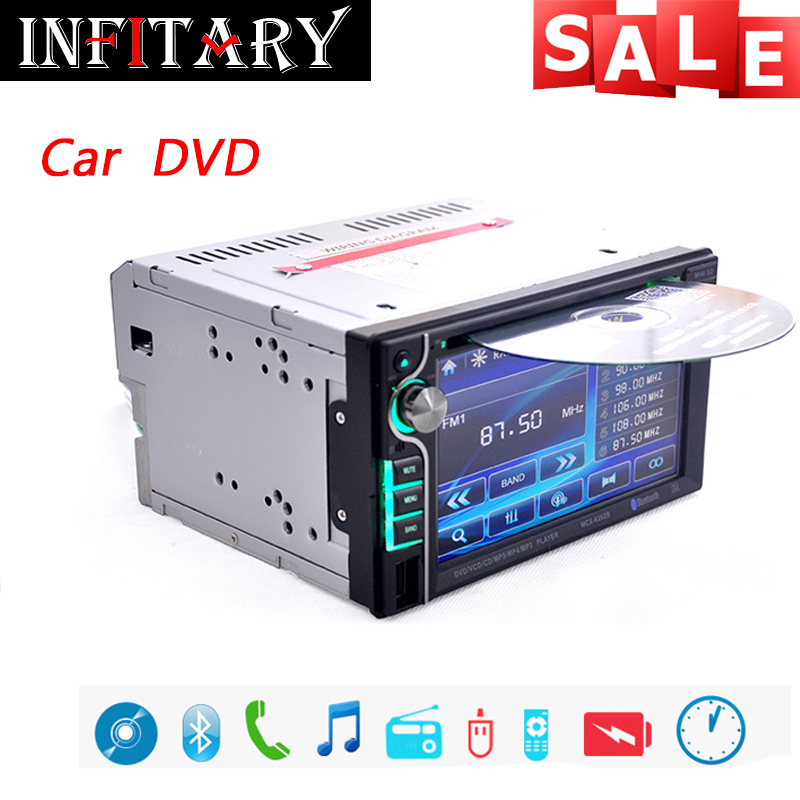 2 Din Universal Car Stereo Audio Radio DVD/USB/SD Player HD Multimedia Bluetooth 6.2inch Touch Screen Backup Rear Camera Monitor<br><br>Aliexpress