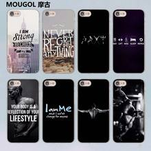 MOUGOL Loving Bodybuilding Gym Fitness design transparent clear hard case cover for Apple iPhone 7 7Plus 6S 6 Plus 5 5s SE 5C(China)