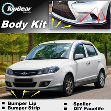 Bumper Lip Deflector Lips For Proton Saga Front Spoiler Skirt For TopGear Friends Car tuning View / Body Kit / Strip