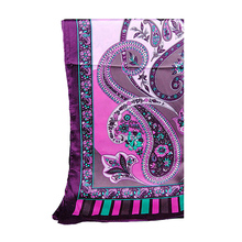 Women's Scarves Print Purple Black Green Red Yellow Soft Long Scarf shawl Hijab 180x60cm AW-ZSO3