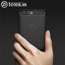 TOMKAS Oneplus 5 Case Fashion Soft Silm Silicone Phone Cases For Oneplus 5 TPU Carbon Fiber Texture Cover For One Plus 5 Case
