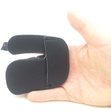 Black Leather Finger Guard Protector Protection Glove for Hunting Shooting Bow Arrow Archery Shooting Sports(China)