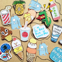 1 PC Cartoon Acrylic Brooch Clothing Backpack Accessories Badges Decoration Pins Brooches(China)