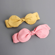 Korean Style Cotton Baby Headbands Photography Props Elastic Hair Belt Girls Bands Infant Hair Accessories fille bebes bandeau(China)