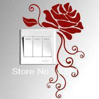 Rose covenant switch stickers wall decoration wall stickers home appliance kitchen cabinet furnishings