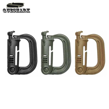 5Pcs/Lot Grimloc Molle Carabiner D Locking Ring Mount D-Ring Plastic Clip Snap ITW Fastener Hook Buckle Travel Kits