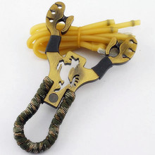 alloy Hunting Bow Hunting Slingshot Rubber Bands Folding Wrist Slingshot Outdoor Powerful Tools for Hunting