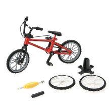 Fun Kids DIY Assembly Mountain Bike Toy with Spare Tire Tools Mini Bicycle Toy Educational Handwork Finger Bike Toy(China)