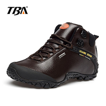 2017 TBA Man Hiking shoes outdoor sneaker climbing High Leather mountain sport trekking tourism boots botas waterproof shoes(China)