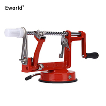 Eworld 3 in 1 Fruit Apple Peeler Slicing Machine Stainless Steel Blade Iron Body Apple Machine Peeled Creative Home Kitchen Tool(China)